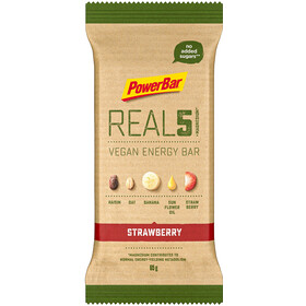PowerBar REAL5 Bar Box 18x65g, Strawberry Raisin